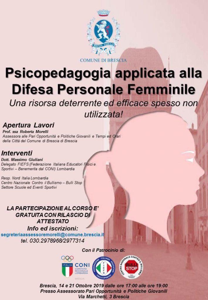 Psicopedagogia applicata alla difesa personale femminile